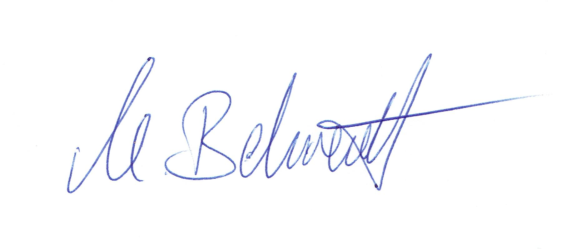 Unterschrift Martin Behrendt